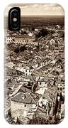 Dubrovnik Rooftops And Lokrum Island Against The Dalmatian Adriatic Sepia IPhone Case