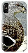 Duck Art Tribal Mallard IPhone Case