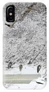 Duck Fly Over Herons On Maumee River IPhone Case