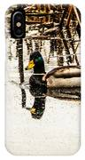 Duck On The Water IPhone Case