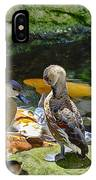 Ducks At The Koi Pond IPhone Case