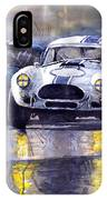 Duel Ac Cobra And Shelby Daytona Coupe 1965 IPhone Case