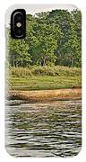 Dugout Canoe In The Rapti River In Chitin National Park-nepal IPhone Case