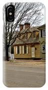 Duke Of Gloucester Street In Williamsburg IPhone Case