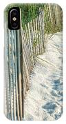 Dune Fence On Beach  IPhone Case