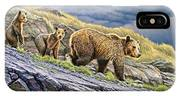 Dunraven Pass Grizzly Family IPhone X Case