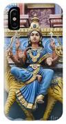 Durga Statue On Hindu Gopuram IPhone Case