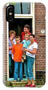 Dutch Family On Orange Day In Enkhuizen-netherlands IPhone Case