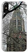 Dutch Reformed Church Tower In Enkhuizen-netherlands IPhone Case