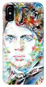 Dylan Thomas - Watercolor Portrait IPhone Case