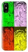 E Vincent Negative Quad Colors IPhone Case