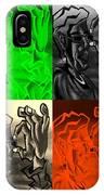 E Vincent Quad Colors IPhone Case
