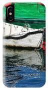 E17 Reflections - Lyme Regis Harbour IPhone Case