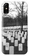 Eagle Point National Cemetery In Black And White IPhone Case
