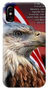 Eagle With Pledge Allegiance IPhone Case