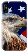 Eagle With Us American Flag IPhone Case