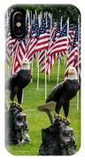 Eagles And Flags On Memorial Day IPhone Case