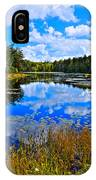 Early Autumn At Fly Pond - Old Forge Ny IPhone Case