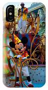Early Morning Main Street With Mickey Walt Disney World 3 Panel Composite IPhone Case