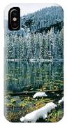 Early Snow At Nymph Lake IPhone Case