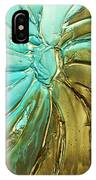 Aqua Teal Brown Organic Abstract Art IPhone Case
