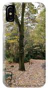 Earth Day Special - Bench In The Park IPhone Case