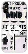 Earth Wind Fire San Diego Sports Arena Ticket September 24 1976 IPhone Case
