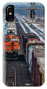 Eastbound And Westbound Trains IPhone Case