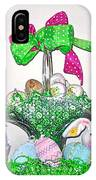 Easter Baskets In A Row  IPhone Case