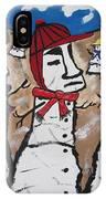 Easter Island Snow Men IPhone Case