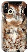 Eastern Screech Owl IPhone Case