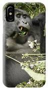 Eating Mountain Gorilla IPhone Case