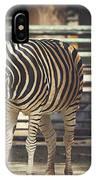 Eating Zebra IPhone Case