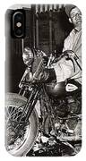 Eddie Davenport Of Tulare California On A Motorcycle Hollister  July 7 1947 IPhone Case