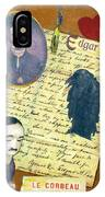 Edgar Allen Poe IPhone Case