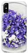 Edible Violets  IPhone Case