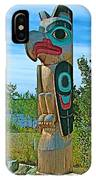 Edward Smarch Totem Pole At Teslin Tlingit Heritage Memorial Center In Teslin-yt IPhone Case
