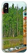 Edward Smarch Totem Poles At Teslin Tlingit Heritage Memorial Center In Teslin-yt IPhone Case