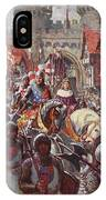 Edward V Rides Into London With Duke IPhone Case