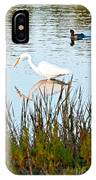 Egret And Coot In Autumn IPhone Case