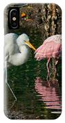 Egret And Pink Spoonbill IPhone Case