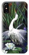 Egret And The Butterfly IPhone Case
