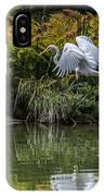 Egret At The Lake IPhone Case