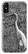 Egret In Black And White IPhone Case