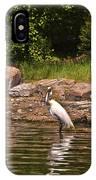 Egret In Central Park IPhone Case