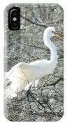 Egret Lake Martin Louisiana Rookery IPhone Case