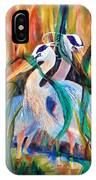 Egrets In Red 2            IPhone Case