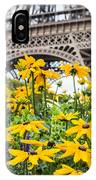 Eiffel Flower IPhone Case