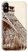 Eiffel In Sepia IPhone Case