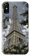Eiffel Through Trees IPhone Case